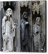 Cologne Cathedral Statues Acrylic Print