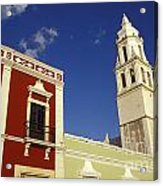 Colonial Colors Campeche Mexico Acrylic Print