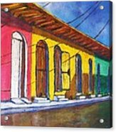 Colonial Homes Granada Nicaragua Acrylic Print