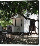 Colonial Weaver's Building Acrylic Print by Lisa A Bello