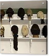 Colonial Wigs Display Acrylic Print