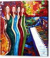Color Of Music Acrylic Print by Yelena Rubin