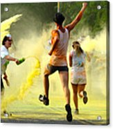 Color Run Happy Acrylic Print