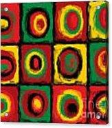 Color Study Of Caribbean Flowers Acrylic Print