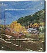 Colorado Almost Winter Acrylic Print
