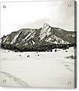 Colorado Boulder Flatirons  Acrylic Print