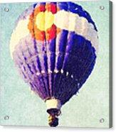 Colorado Flag Hot Air Balloon Acrylic Print