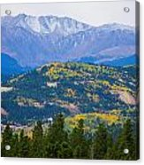 Colorado Rocky Mountain Autumn View Acrylic Print