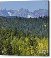 Colorado Rocky Mountain Continental Divide Autumn View Acrylic Print
