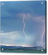Colorado Rocky Mountains Foothills Lightning Strikes 2 Acrylic Print