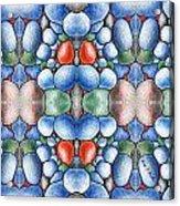 Colored Rocks Design Acrylic Print