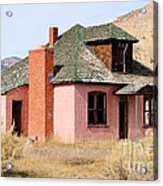 Colorful Abandoned Home In Dying Farm Town Acrylic Print