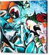 Colorful Abstract Graffiti Wall Acrylic Print