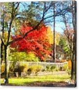 Colorful Autumn Street Acrylic Print