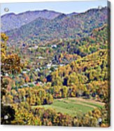 Colorful Autumn Valley Acrylic Print