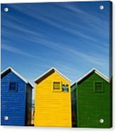 Colorful Beach House Acrylic Print