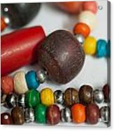 Colorful Beads In Chains Acrylic Print