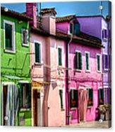 Colorful Burano Italy Acrylic Print