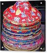 Colorful Chinese Farmer Hats Acrylic Print