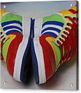Colorful Clown Shoes Acrylic Print