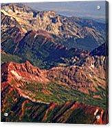 Colorful Colorado Rocky Mountains Planet Art Acrylic Print