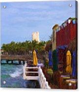 Colorful Cozumel Cafe Acrylic Print