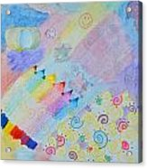 Colorful Doodling Original Art Acrylic Print