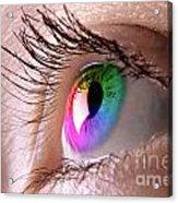 Colorful Eye Acrylic Print