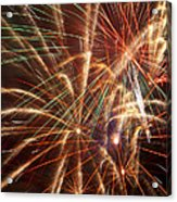 Colorful Fireworks Acrylic Print