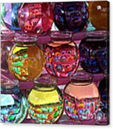 Colorful Fish Bowls Acrylic Print