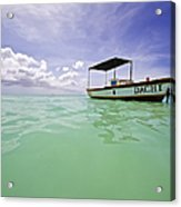 Colorful Fishing Boat Of The Caribbean  Acrylic Print