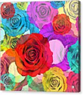 Colorful Floral Design  Acrylic Print