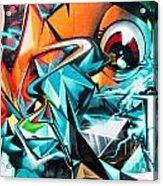 Colorful Graffiti Fragment Acrylic Print