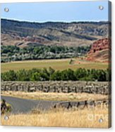 Colorful Hills Of Wyoming Acrylic Print
