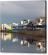 Colorful Homes On The Water Acrylic Print