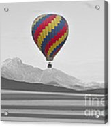 Colorful Hot Air Balloon And Longs Peak Acrylic Print