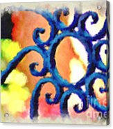 Colorful Ironwork Acrylic Print