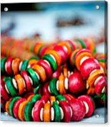 Colorful Jewellery Acrylic Print by Ankit Sharma