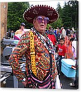 Colorful Man Of The Festival Acrylic Print