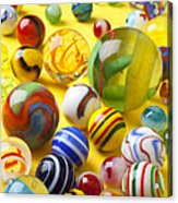 Colorful Marbles Two Acrylic Print