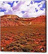 Colorful Mesas At Fossil Butte Nm Butte Acrylic Print