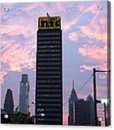 Colorful Morning Sky In Philly Acrylic Print