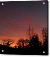 Colorful November Dawn Acrylic Print
