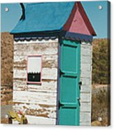 Colorful Outhouse Acrylic Print