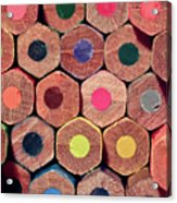 Colorful Painting Pencils Acrylic Print