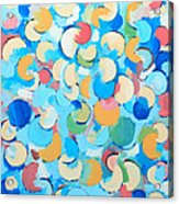 Colorful Partial Eclipses Acrylic Print