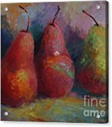 Colorful Pears Acrylic Print