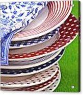 Colorful Plates Acrylic Print