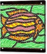 Colorful Quilted Fish Two Acrylic Print