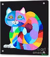 Colorful Rainbow Cat Acrylic Print